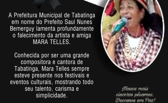 image for Prefeitura lamenta falecimento da artista Mara