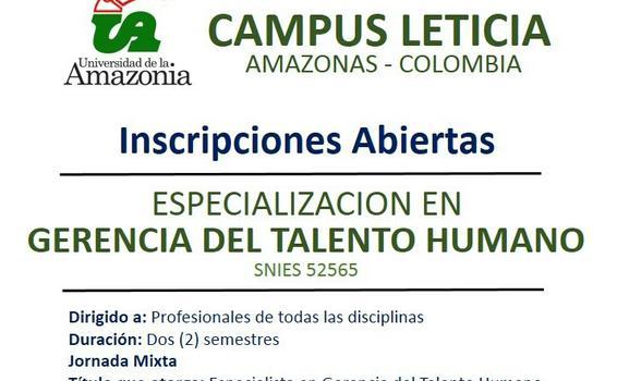 image for Inscripciones para las especializaciones en universidad Amazonía