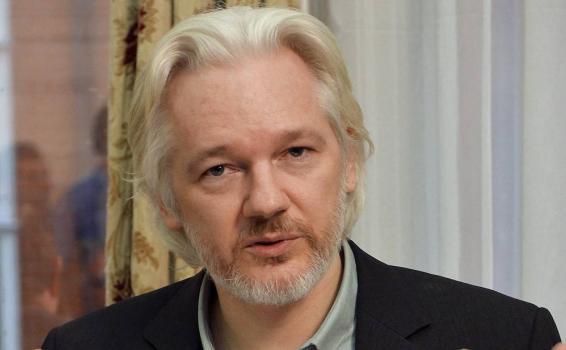 Julian Assange en una foto