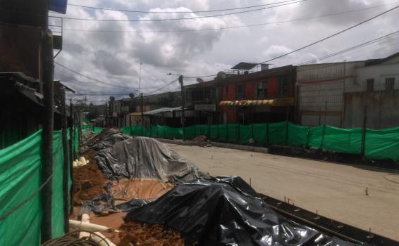 Calle del puerto en obras de pavimentacion