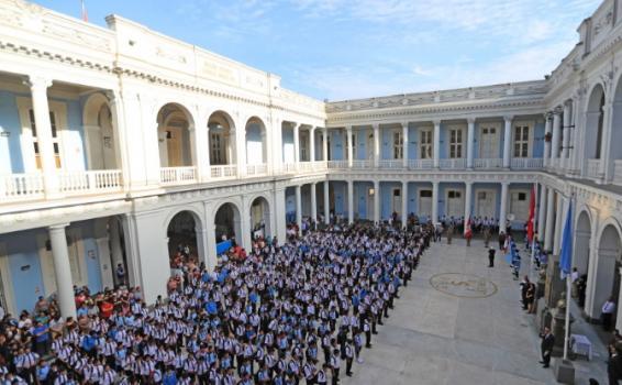 Estudiantes en sus inicios de clases