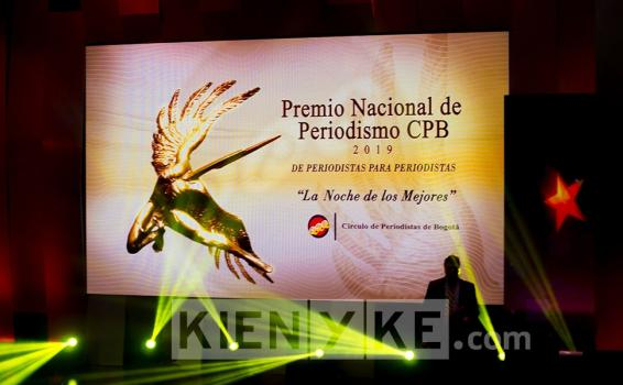 Tarima de premicion en el Teatro Cafam la Floresta de Bogota