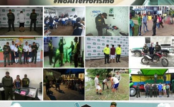 Imagenes de acciones policiales terminada la semana pasada