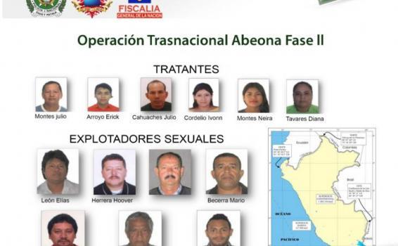 13 personas capturadas en operación conjunta contra la trata de personas en el Amazonas