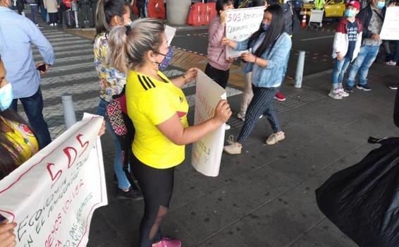 Amazonenses protestan en Bogotá por retorno a Leticia