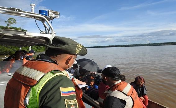 REALIZAMOS CONTROL Y VIGILANCIA SOBRE  RIBERAS DEL RÍO AMAZONAS