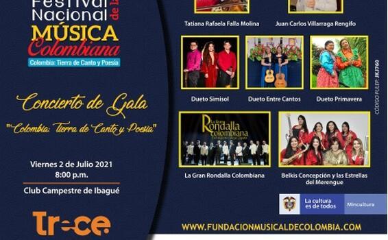 Prográmate con el XXXV Festival Nacional de la Música Colombiana