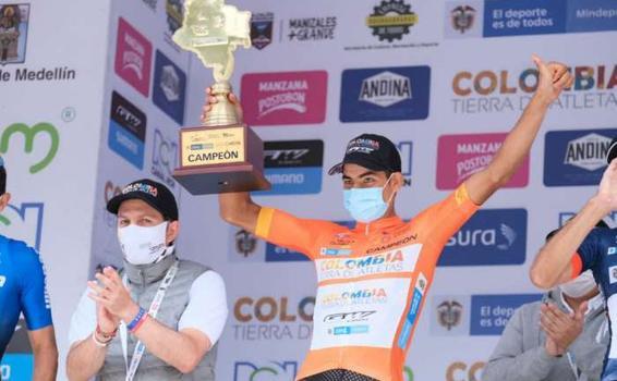 Diego Camargo, campeón de la Vuelta a Colombia 2020