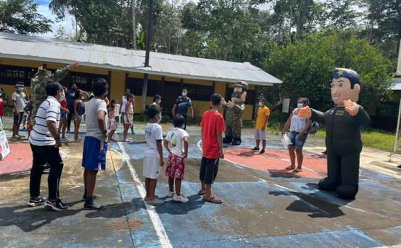 Celebración del Día del Niño en el Amazonas