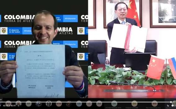 Mindeporte y la Administración General del Deporte de China firman memorando de cooperación deportiva