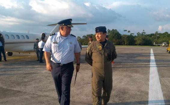Comando de Apoyo a la Fuerza Aérea Colombiana visita el Grupo Aéreo del Amazonas