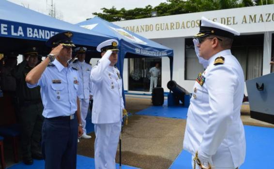 GAAMA participa en ceremonia militar de transmisión del Comando de Guardacostas en el Amazonas