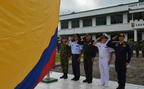 Con minuto de silencio Fuerzas Militares de Colombia, Brasil y Perú homenajearon a los héroes caídos durante Tripartita