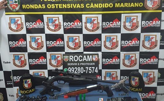 2º BPCHQ/ROCAM apreendem quatro armas de fogo após mortes por intervenção policial durante operação HÓRUS