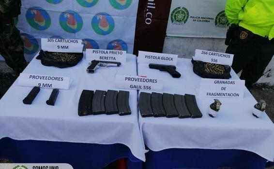 POLICÍA Y EJÉRCITO NACIONAL, INCAUTAN IMPORTANTE MATERIAL BÉLICO