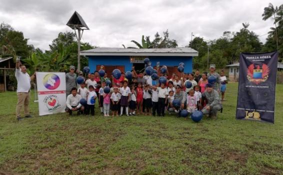 Visita de la FAC a comunidad San Juan de los Parentes en el Amazonas