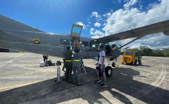 Menor de edad fue evacuado en aeronave de su Fuerza Aérea Colombiana