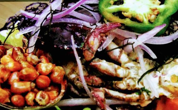 Imagen de cebiche de cangrejos en un plato