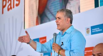 Presidente Duque en intervencion en San Andres