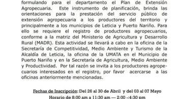 image for UMATA se encuentra recibiendo registro de usuários agropecuários