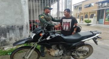 image for Policía recupera motocicleta de ciudadano brasilero