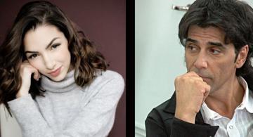 Thelma Fardin y Juan Darthes en una foto uno al lado del otro