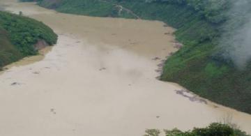 Rio en una vista desde algun lado empinado