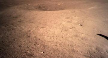 Imagen representando el alunizaje de una sonda en la Luna