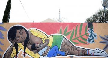image for Primer mural dedicado a la lactancia materna en Leon