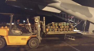 image for Força Aérea trouxe Cilindros com Oxigênio