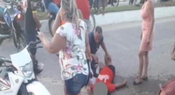 image for Motorista supostamente embriagado bate em mototicleta