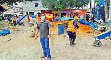 image for Alcalde continúa supervisando avance de obras en Belén