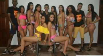 Modelos en una sesion de fotos Amazonas Fashion Week