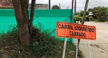 Calle 13 con calle 5 en reparacion de la calle