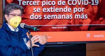 image for Claudia López alerta y dice estar al borde del colapso / Covid