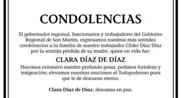 image for Condolencias por la pérdida de la madre de Clider Díaz Díaz
