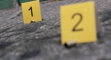 Balas en una escena de crimen
