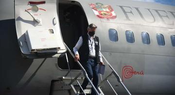 image for Presidente de la república Francisco Sagast llega a Iquitos