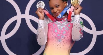 image for Rebeca Andrade foi escolhida para ser a porta-bandeira do Brasil