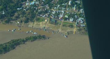 image for Sobrevuelos por el Río Amazonas para reconocimiento de daño geológico