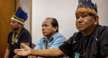 image for Indígenas Tikuna e Kambeba denunciam ameaças, invasões e tentativa de despejo