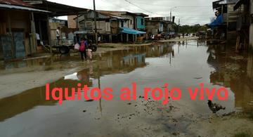 image for Moradores en el distrito de Belén afectados por las crecientes de los ríos
