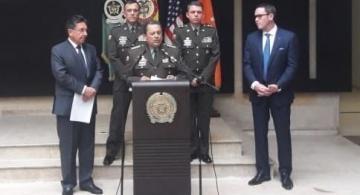 Alto mando de la policia en una rueda de prensa