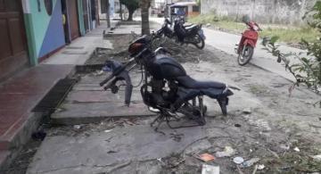 Moto intervenida por ladrones