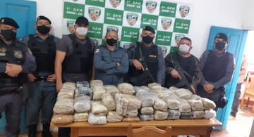 image for Polícia Militar apreende 80 kg de entorpecentes