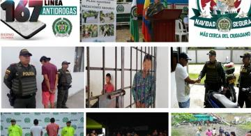 Collage de fotos de noticias de la policia