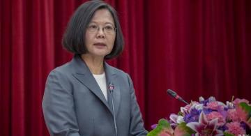 Presidenta de taiwanesa en una rueda de prensa