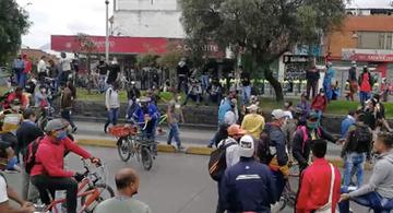 image for Manifestantes bloquearon sector de Yomasa