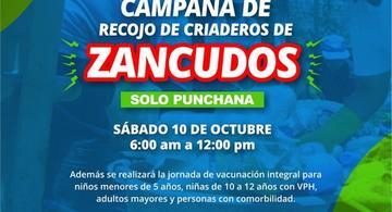 image for Campaña de recojo de criaderos de zancudos