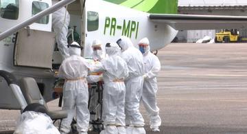 image for Três pacientes com COVID-19 são transferidos para hospitais de Rio Branco